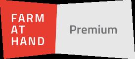 farm at hand premium banner with farm at hand logo