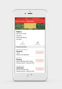 Keep Track Of Farm Records With Planned Activities on Mobile Device