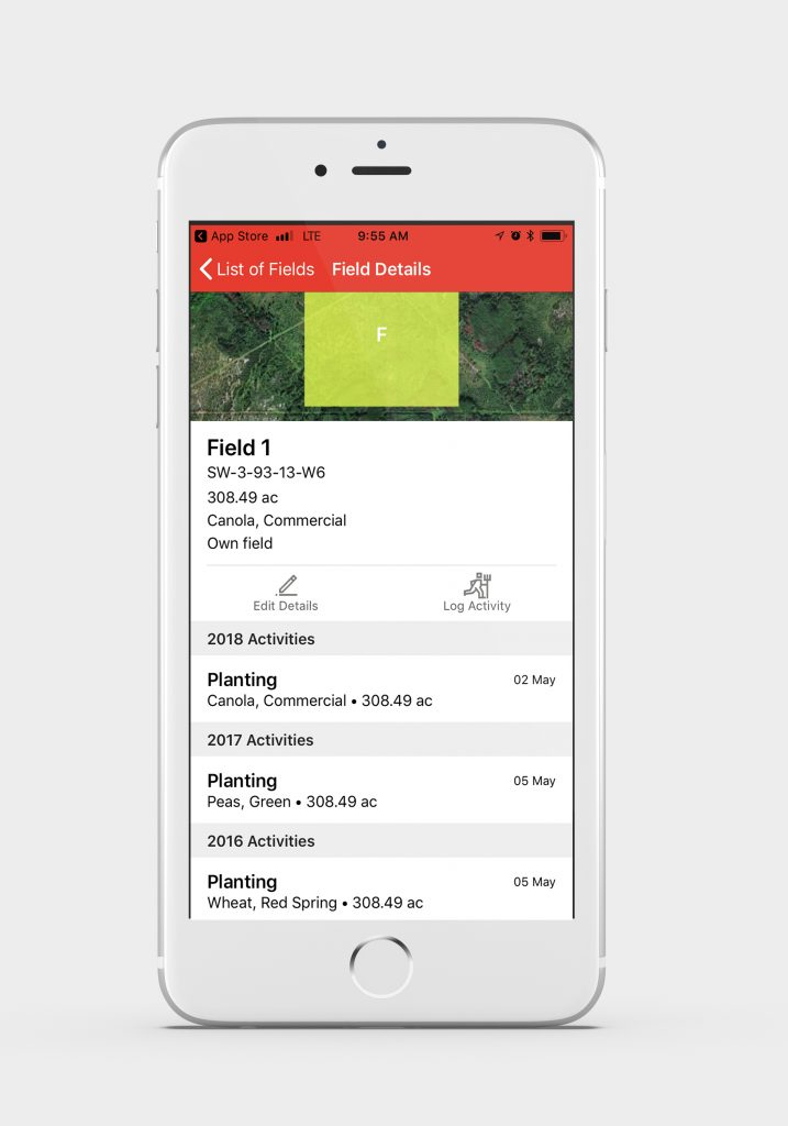 track your field activities from mobile device